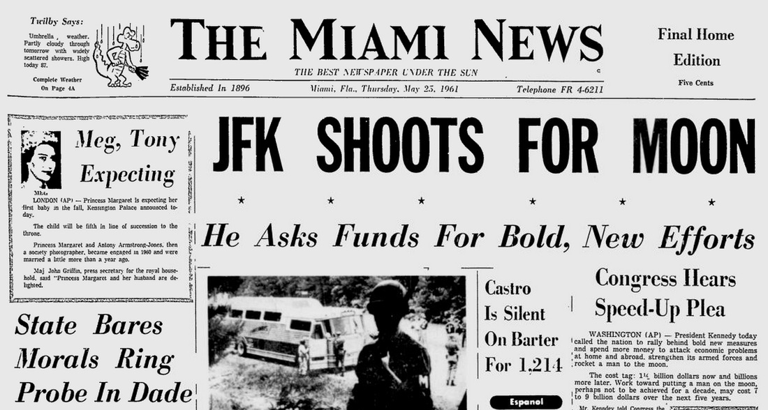 On this day in Florida history - May 25, 1961 - JFK challenges ...