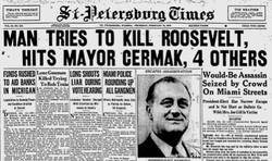 Image result for 1933 attempted assassination of FDR