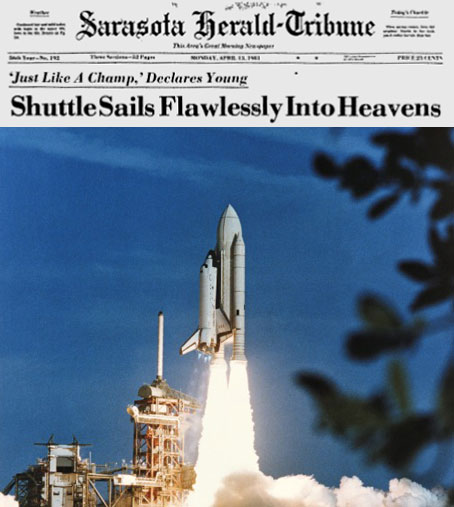 Image result for first space shuttle launch