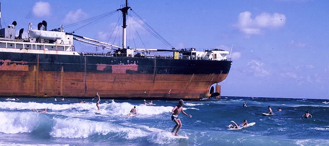 Amaryllis shipwrecked near Palm Beach Inlet 1965